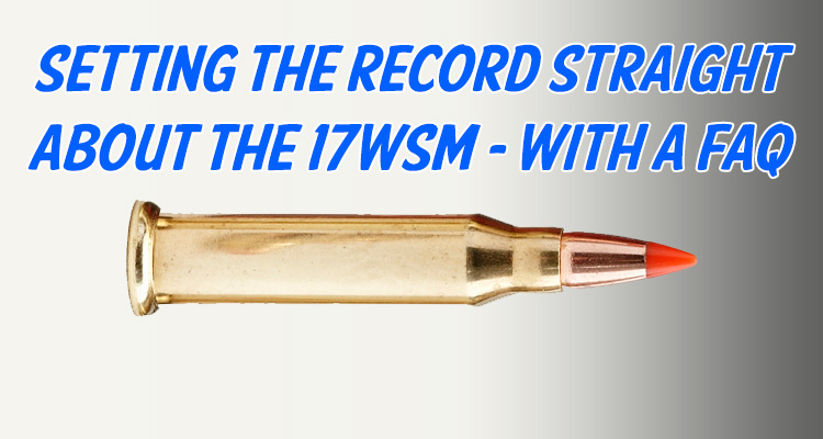 17WSM - Information on the 17 Winchester Super Magnum